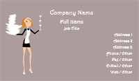 Maid Services Business Card Template